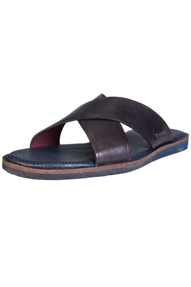 Leather Slip On Flip Flops PUNXEL 16001