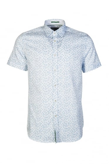 Ted Baker Print Shirt Short Sleeve TS6//GA32/ MANOMAN 14