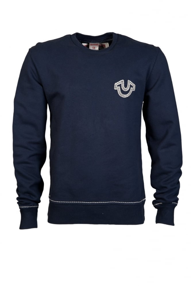 Crew Sweatshirt Jumper in Navy Blue M177K58E72-4137