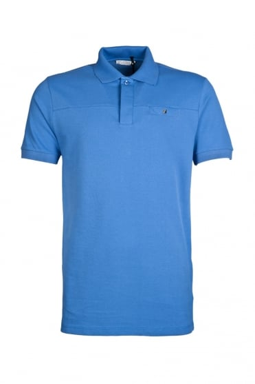 Versace Casual Fit Polo Tee in Royal Blue V800389VE9029-V420