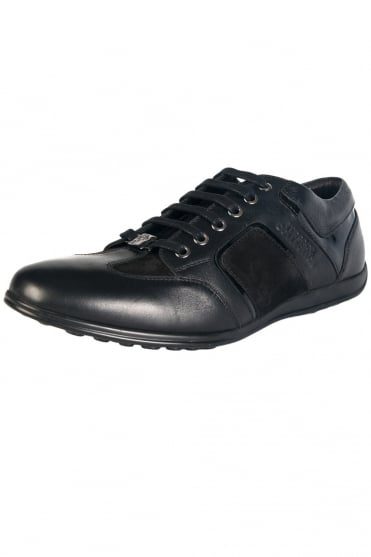 Versace Genuine Leather Trainers in Black V900420VM00041-V000
