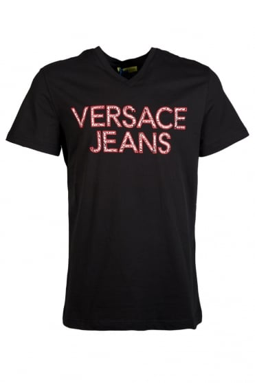 Versace Jeans Printed T-Shirt in Black B3GLA74636591-899