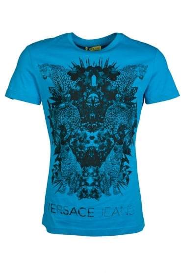 Versace Jeans Printed T-Shirt in Blue B3GLA78436582-203