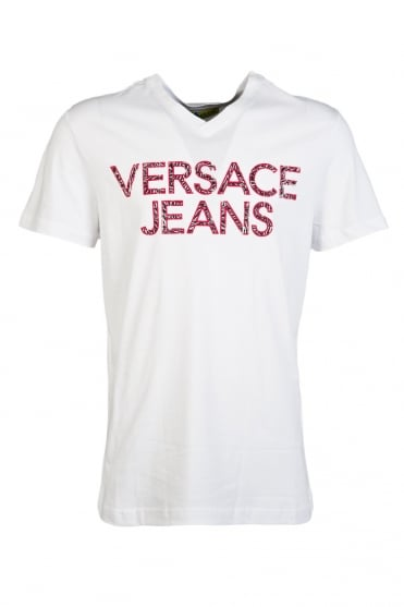 Versace Jeans Printed T-Shirt in White B3GLA74636591-003