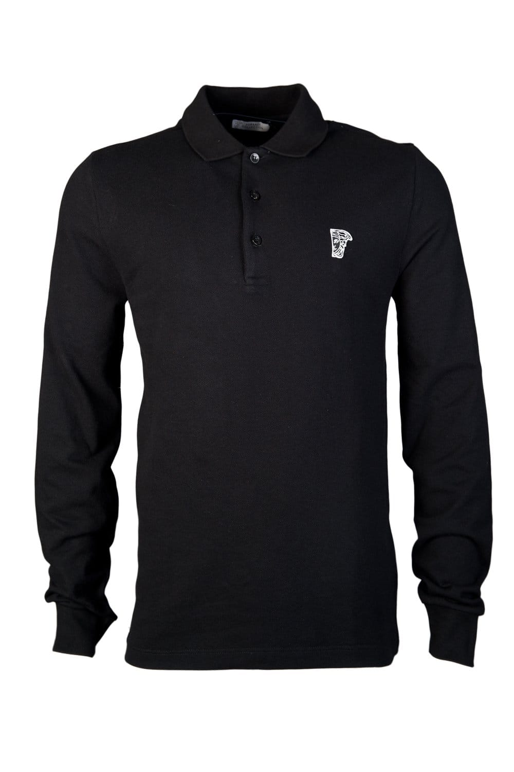 black versace polo