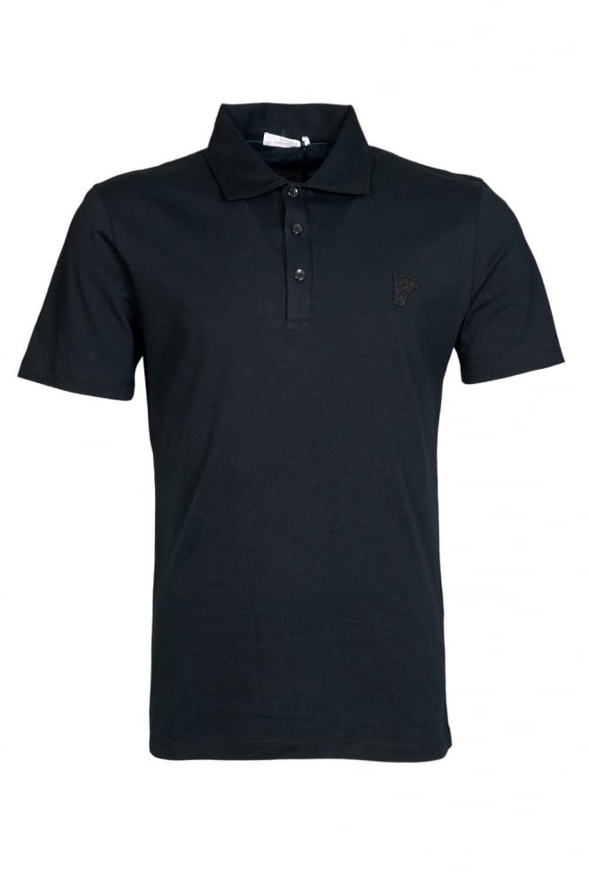 Versace Regular Fit Polo Shirt in Black V800439VJ00154-V1008
