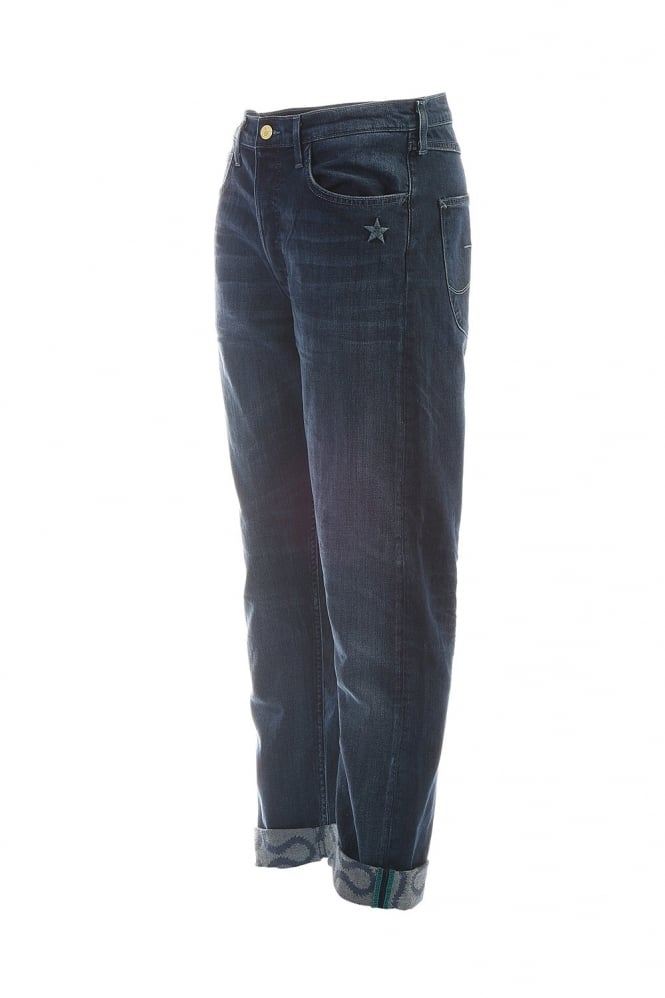 Straight Leg Jeans in Indigo Blue LV80AGSM
