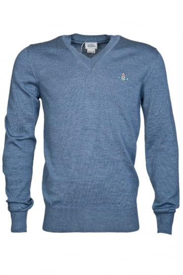 Vivienne Westwood V Neck Knit Jumper S25HA0302S13141 469